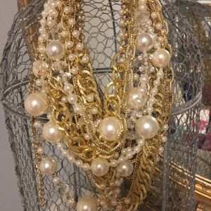 Gold and pearl layered Necklace